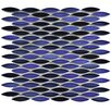 "EliteTile Paissan 0.69"" x 2.44"" Ceramic Mosaic Tile in Glossy Azul"