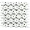 "EliteTile Paissan 0.69"" x 2.44"" Ceramic Mosaic Tile in Glossy Blanco"