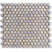 "EliteTile Penny 0.8"" x 0.8"" Porcelain Mosaic Tile in Frost Blue"