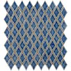 "EliteTile Interval 1"" x 2"" Ceramic Mosaic Wall Tile in Diamond Azure Blue"