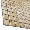 "EliteTile Filigree 0.9"" x 0.9"" Porcelain Mosaic Floor and Wall Tile in Brown"