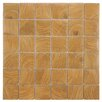 "EliteTile Thicket 1.85"" x 1.85"" Porcelain Mosaic Floor and Wall Tile in Wood Brown"