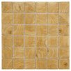 "EliteTile Thicket 1.85"" x 1.85"" Porcelain Mosaic Floor and Wall Tile in Wood Beige"
