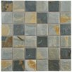 "EliteTile Arriba 1.85"" x 1.85"" Porcelain Mosaic Floor and Wall Tile in Slate Brown and Gray"