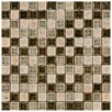 """EliteTile Interval 0.88"""" x 0.88"""" Ceramic and Glass Mosaic Wall Tile in Beige Mix"""