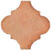 """EliteTile Perche 6"""" x 6"""" Lantern Ceramic Paving Stones in Spanish Terra Cotta"""