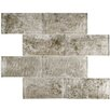 "EliteTile Nieve 2.88"" x 5.88"" Glass Mosaic Tile in Smoke"