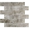 EliteTile Nieve Glass Mosaic Tile in Smoke