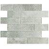 EliteTile Nieve Glass Mosaic Tile in Ash