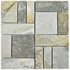 "EliteTile Peak Patchwork 12"" x 12"" Natural Stone Mosaic Tile in Arizona Quartzite"