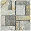 EliteTile Peak Patchwork Quartzite Random Sized Slate Mosaic Tile in Arizona
