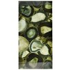 "EliteTile Archaea 23.75"" x 11.75"" Panorama Glass Tile in Geode Verde"