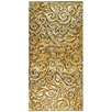 """EliteTile Florencia 23.75"""" x 11.75"""" Embossed Panorama Glass Tile in Champagne"""