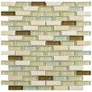 "EliteTile Sierra 0.5"" x 1.875"" Glass and Natural Stone Mosaic Tile in York"