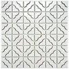 EliteTile Castle 11.75'' x 11.75'' Porcelain Hand-Painted Tile in Off White
