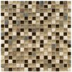 """EliteTile Sierra 0.625"""" x 0.625"""" Glass and Natural Stone Mosaic Tile in Nassau"""