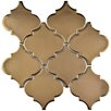 "EliteTile Essentia 4.9"" x 5.2"" Porcelain Mosaic Tile in Burnished Bronze"