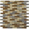 """EliteTile Sierra 0.5"""" x 1.875"""" Glass and Natural Stone Mosaic Tile in Brixton"""