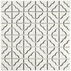 EliteTile Castle 11.75'' x 11.75'' Porcelain Mosaic Tile in White