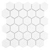 "EliteTile Retro 2"" x 2"" Hex Porcelain Mosaic Tile in Glossy White"
