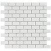 "EliteTile Retro 0.88"" x 1.875"" Porcelain Mosaic Tile in Glossy White"