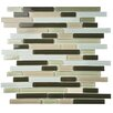 """EliteTile Ambit 11.75"""" x 11.75"""" Glass Mosaic Tile in Chapparal"""