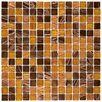 "EliteTile Fused 0.75"" x 0.75"" Glass Mosaic Tile in Amber"