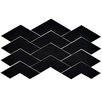 "EliteTile Rebotar 3.38"" x 11.75"" Ceramic Field Tile in Black"