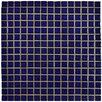 "EliteTile Morgan .75"" x .75"" Porcelain Mosaic Floor and Wall Tile in Cobalt"