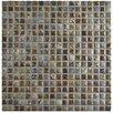 "EliteTile Arcadia 0.563"" x 0.563"" Porcelain Mosaic Tile in Noce Slate"