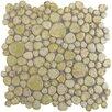 """EliteTile Boulder 11"""" x 11"""" Porcelain Mosaic Tile in Green Moss"""