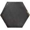 "EliteTile Rama 14.13"" x 16.25"" Hex Porcelain Floor and Wall Tile in Black"