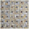 "EliteTile Peak 12"" x 12"" Natural Stone Mosaic Tile in Multi Sunset"