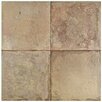 "EliteTile Tartesso 17.63"" X 17.63"" Ceramic Field Tile in Brown"