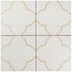 """EliteTile Cumulus 17.63"""" X 17.63"""" Ceramic Field Tile in Cream"""