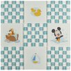 "EliteTile Disney Baby 11.75"" x 11.75"" Glass Mosaic Tile in Blue"