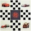 "EliteTile Disney Cars 11.75"" x 11.75"" Glass Mosaic Tile in Black/ White"