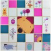 "EliteTile Disney Pooh and Friends 11.75"" x 11.75"" Glass Mosaic Tile in Pink"