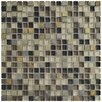 "EliteTile Sierra 0.625"" x 0.625"" Glass and Natural Stone Mosaic Tile in Stonehenge"