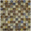 """EliteTile Sierra 11.625"""" x 11.625"""" Glass and Natural Stone Mosaic Tile in Brixton"""