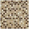 "EliteTile Ambit .56"" x .56"" Glass and Natural Stone Mosaic Tile in Crest"