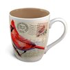 American Expedition Cardinal Postcard Stoneware Curved Mug