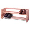 Woodlore Single 2-Tier Shoe Rack