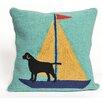 Liora Manne Frontporch Sailing Dog Throw Pillow