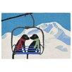 Liora Manne Frontporch Ski Lift Love Indoor/Outdoor Throw Pillow