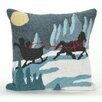Liora Manne Frontporch Sleigh Ride Indoor/Outdoor Throw Pillow