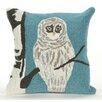 Liora Manne Frontporch Snowy Owl Indoor/Outdoor Throw Pillow
