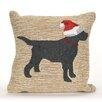 Liora Manne Frontporch Christmas Dog Indoor/Outdoor Throw Pillow