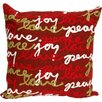 Liora Manne Visions III Peace Love Joy Throw Pillow