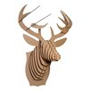 Cardboard Safari Bucky Deer Bust Wall Décor